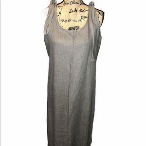 Minimalist shift linen dress Anna Melani l…